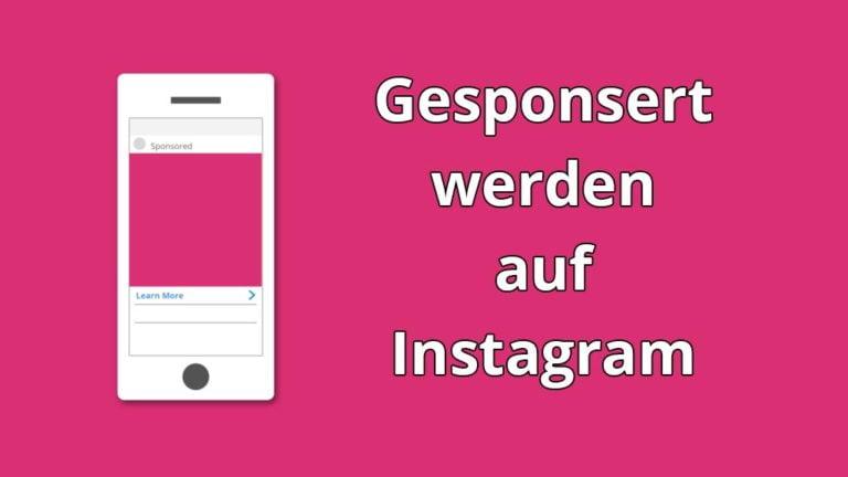 Gesponsert werden auf Instagram