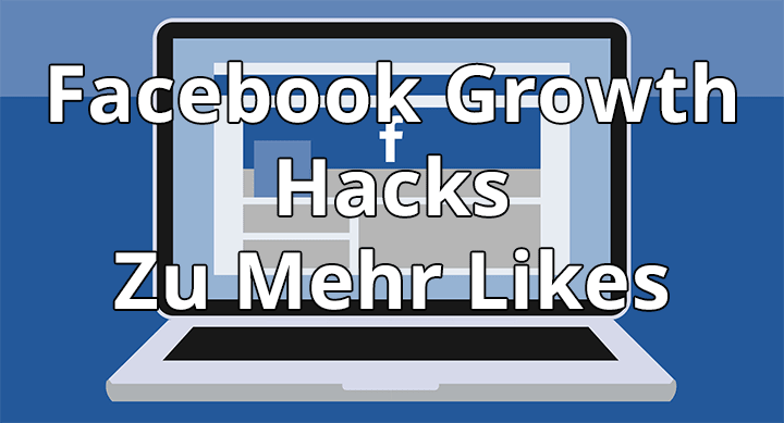 Facebook growth Hacks zu mehr Likes. Copyright: https://www.freepik.com/free-vector/laptop-background-with-facebook-and-icons_1087532