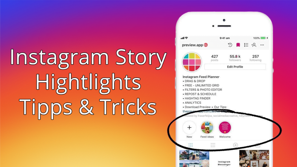 Hier lernst du, wie du Icons in den Instagram Story Highlights verwendest